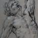 RENI Guido,1620-21 - Hercule sur le Bûcher, Etude (drawing, dessin, disegno-Louvre INV8917) - Detail 2