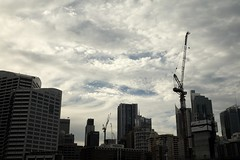 Morning Cityscape (HaskelR) Tags: cityscape darling harbour sydney urban city buildings rigid architecture sky graceful clouds morning structure