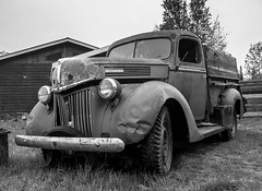 Seen Better Days........... (clive_metcalfe) Tags: ford onetone truck carcross yukon rust tyre