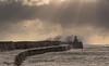 Pittenweem (Katherine Fotheringham) Tags: pittenweem scotland lighthouse waves storm fife east neuk wall sea north