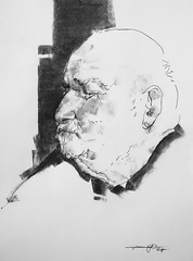 P1017968 (Gasheh) Tags: art painting drawing sketch portrait man line pen charcoal gasheh 2018