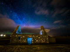Spirit of St Aula (Impact Imagz) Tags: northernlights aurora auroraborealis firchlis merrydancers milkyway stars starlight cloudscapes nightphotography nightsky nightscape church staulaschapel gress cemetary graveyard gresscemetary outerhebrides westernisles hebrides hebridean historicscotland lightpainting samyang canon benbo ngc