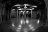 Tate Modern (Cath Dupuy) Tags: tate tatemodern installation monochrome blackandwhite swings turbinehall art gallery london thames thameside southbank silhouettes lighting dark fisheye fisheyelenswidewideangle shadows tanks tatetanks concrete pillars