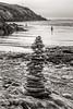 Stoney cone… (AJFpicturestore) Tags: pembrokeshire wales newport newportbay rivernevern cone stones tower beach fun play monochrome alanfoster