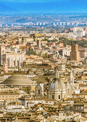 Rome Aerial View at Saint Peter Basilica Viewpoint (Daniel Ferreira-Leites) Tags: ifttt 500px aerial city rome italy architecture europe landmark view panorama roman roma viewpoint cityscape architectural travel tourism famous destination sky overlook above