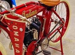 Omaha Indian (Tim @ Photovisions) Tags: omaha indian motorcycle bike cycle red nebraska antique vintage