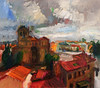 Avila after a Thunderstorm (http://annafineart.net/) Tags: expressionism imprrssionist contemporary modernart gallery artstudio spain pleinair oilcolors mixed mixedmedia modern landscape landscapes annafineart abstract abstractart abstractpainting art arts painter dailypainter artist oil painting paintings fineart finearts oilmedia oilpainting impasto cityscape city town avila spanish
