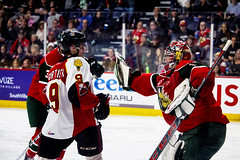 Gabriel Fortier & Alexis Gravel (DeWhit Photography) Tags: hockey halifaxmooseheads halifax hockeyplayer hockeyphotography halifaxmetrocentre sports sportsphotography sportphotography sport scotiabankcentre mooseheads qmjhl lhjmq chl canadianhockeyleague canon70d canon canonsports baiecomeaudrakkar drakkar hockeygame hockeyphoto playoffs