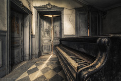 Thank you for the music (Dennis van Dijk) Tags: abandoned forgotten decay derelict europe eu ue urban exploration art lost found moody beauty precious stairs rust dust explorer music piano player man pianoman maestro grand
