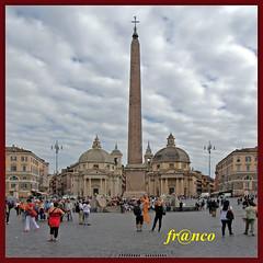 DSC04832popolo (fr@nco ... 'ntraficatu friscu! (=indaffarato)) Tags: italia italy lazio roma rome piazza obelisco chiese