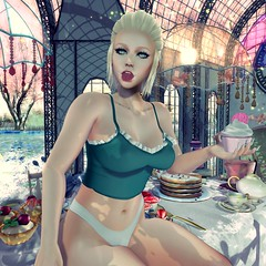 Tasty (matronicon) Tags: tasty cupcake tea dessert tart pie suki top mood blueberry escalated girl female woman av avi avatar sl second life secondlife shiny stuffs senses catwa maitreya firestorm