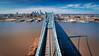 Over the Ben (Darren LoPrinzi) Tags: philadelphia philly aerial dji phantom4pro phantom4proplus ben benfranklinbridge bridge cityscape delawareriver camden nj newjersey skyscrapers