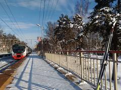 ЭД4М-0480, пл. Некрасовская МЖД. И мои лыжи!