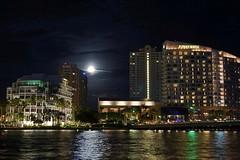 The Moon is Always in my Dreams... Full Moon Over Miami (life-is-color) Tags: sony a7 vivitar legacy lens 28mm f25 canon fd mount full moon miami brickellkey flickrfriday dream