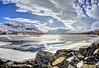 Adore (pauldunn52) Tags: loch bhraoin frozen fannichs snow rocks reflection sunburst north west scotland shiny