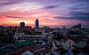 Minsk Panoramic Sunset (free3yourmind) Tags: minsk belarus panoramic sunset colorful nemiga city architecture view buildings center long exposure