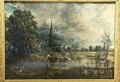 Sketch for Salisbury Cathedral by Constable (kitmasterbloke) Tags: guildhallartgallery london corporationoflondon city art museum victorian preraphaelite painting picture indoor