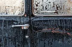 (rickhanger) Tags: car abandoned abandonedcar rust rusty frost frosty doors doorhandle windows automotive automobile vehicles chrome