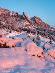Serenity in the Flatirons (Pulver41) Tags: boulder colorado flatirons snow winter cold sunrise freshsnow landscape nature sky rock mountains coloradomountains foothills frontrange calm quiet