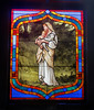Virgin Mary, Jesus and lamb - stained glass window (Monceau) Tags: virginmary jesus lamb stainedglass window metairiecemetery neworleans louisiana cemetery