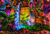 Father of All Gods (Matt Valeriote) Tags: hdr disneyland disney californiaadventure adventureland enchantedtikiroom tiki hawaii polynesian tropical tree animatronic night flowers lights colors