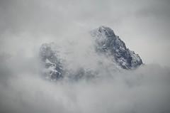 Veiled (faithroxy) Tags: clouds mountain peak threesisters canmore alberta canada rockies rockymountains sky landscape mountainscape spring