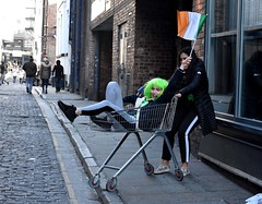 Paddies day in Liverpool, personified. (Ste Owens) Tags: paddies day st patricks streetphotography liverpool mathew street convert square irish guinness