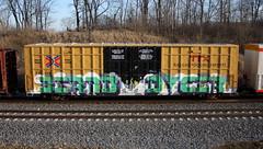 Bernd/Dycer (quiet-silence) Tags: graffiti graff freight fr8 train railroad railcar art bernd dyce dycer dib ttx tbox boxcar tbox664394
