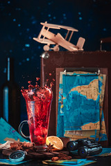 Red tea (Dina Belenko) Tags: action airplane anise arrangement ashberry autumn background binoculars cinnamon closeup composition concept cozy cup dark decoration desk drink dynamic flatlay food fromabove hawthorn healthy herbal holiday hot journey kitchen map maple model nature organic raindrops red relax rustic spalsh suitcase table tea tour travel vacation vintage warm wine wooden