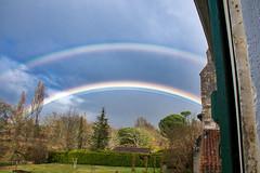 Arc en ciel (double)_3900 (Luc Barré) Tags: arcenciel arc nuage orage pluie rainbow landes estampon lande france