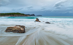 LA PLAYA.. (VICENTE PLANELLS RAMON) Tags: calanova playa temporal arena olas mar frio amanecer dawn ibiza eivissa