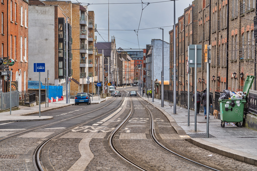 DOMINICK STREET DUBLIN [TRAMS AND TRACKS]-137836