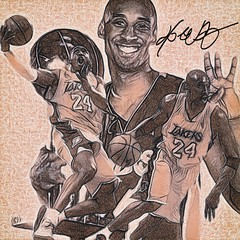 68 - Kobe Bryant (Bob Smerecki) Tags: smackman snapnpiks robert bob smerecki sports art digital artwork paintings illustrations graphics oils pastels pencil sketchings drawings virtual painter 6 watercolors smart photo editor colorization akvis sketch drawing concept designs gmx photopainter 28 draw hollywood walk fame high contrast images movie stars signatures autographs portraits people celebrities vintage today metamorphasis 002 abstract melting canvas baseball cards picture collage jixipix fauvism infrared photography colors negative color palette seeds university michigan football ncaa mosaic