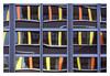 Kontrastierende Fenster (schu.j) Tags: rub kleinbild 35mm analog analogue film devscan entwicklung development farbe c41 colour universität university fenster window linien lines stuktur structure geometrie geometry architektur architecture gebäude building abstrakt abstract primärfarben kontrastfarben primary colors dynamik statik kontrast spiegelung reflection bochum ruhruniversität