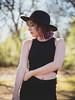Brenna (Vincent F Tsai) Tags: portrait fashion art model girl standing outdoor nature natural beauty beautiful pretty light sun spring hat black purple hair bokeh dof leicadgnocticron425mmf12 panasonic lumixgx8