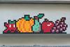 Paris 10ème (PA_1318) (Meteorry) Tags: europe france idf îledefrance paris spaceinvader spaceinvaders invader invaderwashere tiles carrelage carreaux mur wall street rue art artderue pixels pa1318 tuttifrutti vegan fruit fruits multicolor couleurs dots mosaïques ruedespetitsécuries jahjah november 2017 meteorry