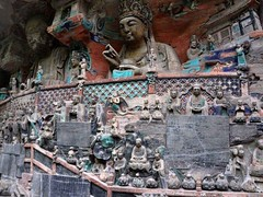 Dazu Rock Carvings is a highlight in Chongqing, home to some 60,000 carved stone statues. These majestic and colorful figures have decorated these cliffs for thousands of years. Why not considering visiting this UNESCO site before or after your Yangtze Ri (yangtze-river-cruise) Tags: yangtzerivercruise threegorgescruise