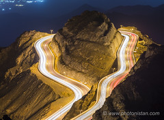 Necklace for the mountain (Photonistan) Tags: crazytuesdaytheme filltheframe 7dwf light taif mountain startrails stars longexposure nightphotography astrophotography nikon photonistan nightshot night sky trail startrail traillight