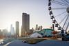 Navy Pier & Ferris Weel - Chicago (Marius Brede) Tags: sonya7ii sony alpha sonyilce7m2 sonyfe28mmf2 28mm f2 chicago skyline willistower night city cityscape nightscape ferrisweel navypier dusk sundown navy pier ferris weel golden hour glass reflections