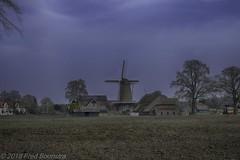 """""""De Leeuw"""", te Lettele (Fred / Canon 70D) Tags: ef50mmf14usm canon70d canoneos canon 50mm hdrefexpro2 lettele deleeuw thenetherlands mill windmill overijssel molen korenmolen"""