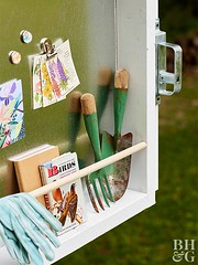 DOORganized Gardening Tools (Heath & the B.L.T. boys) Tags: organize magnetic shed tools