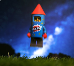 Rocket Man (jezbags) Tags: rocket man lego legos toy toys mac macro macrophotography macrodreams macrolego canon canon80d 80d 100mm closeup upclose series18 firework
