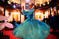 Whirling Dervishes performance at Karabaş-i Veli Culture Center, Bursa, Turkey (CamelKW) Tags: 2018 bursa turkey whirlingdervishes performance karabaşiveliculturecenter