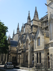 Gables and pinnacles, south side of Bordeaux Cathedral, France (Paul McClure DC) Tags: bordeaux france gironde july2017 nouvelleaquitaine historic architecture
