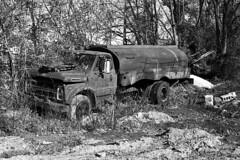 Daniels Truck (m.ashe7) Tags: pentax panatomicx kodak expiredfilm film analog k1000 truck abandoned outdoors blackandwhite bw baltimore