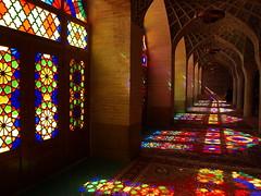 PA035748 (bartlebooth) Tags: shiraz farsprovince iran persia middleeast unesco iranian architecture olympus e510 evolt silkroad persian nasiralmulkmosque pinkmosque nasirolmolkmosque masjedinasiralmulk masjed masjid stainedglass colouredglass colouredlight
