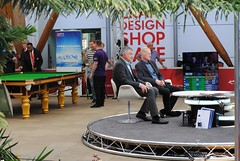 The interesting Winter Gardens studio (zawtowers) Tags: world snooker championship 2018 betfred crucible theatre sheffield thehomeofsnooker first round saturday 21st april afsnikkor50mmf18g 50mm fifty winter gardens steve davis john parrott studio cue zone
