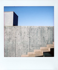 Modern stairs (Italian Film Photography) Tags: stairs architecture modern brutalism lines geometry colors concrete wall film analogue instant square lomoinstantsquare fujifilm instax