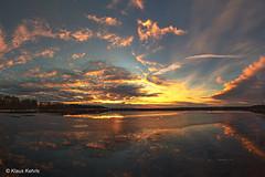 Moorlandschaft - 05021801 (Klaus Kehrls) Tags: landschaft natur moor gewässer himmel sonnenuntergang himmelmoor quickborn spiegelung