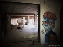 a graffiti character done by David L in Spain ,abandoned building (werewolf10) Tags: graffiti arteurbano abandoned character
